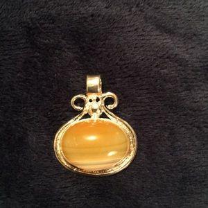 Beautiful genuine Yellow Agate pendant